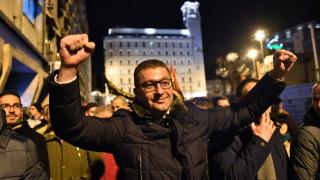 Опозицията излезе на протест в Скопие
