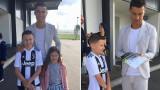 Кристиано Роналдо зарадва болно дете