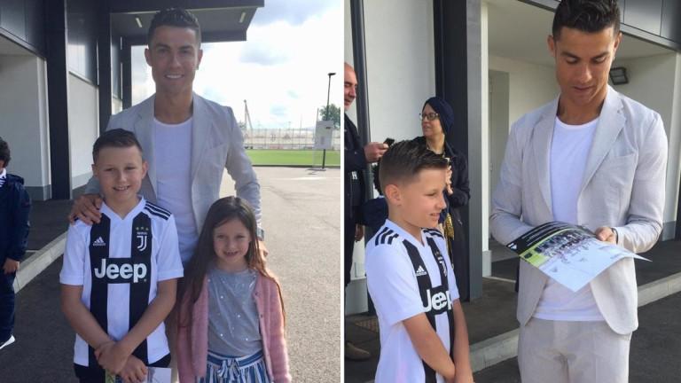 Роналдо зарадва болно дете