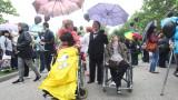 Хора с увреждания протестират пред НС за качествени закони