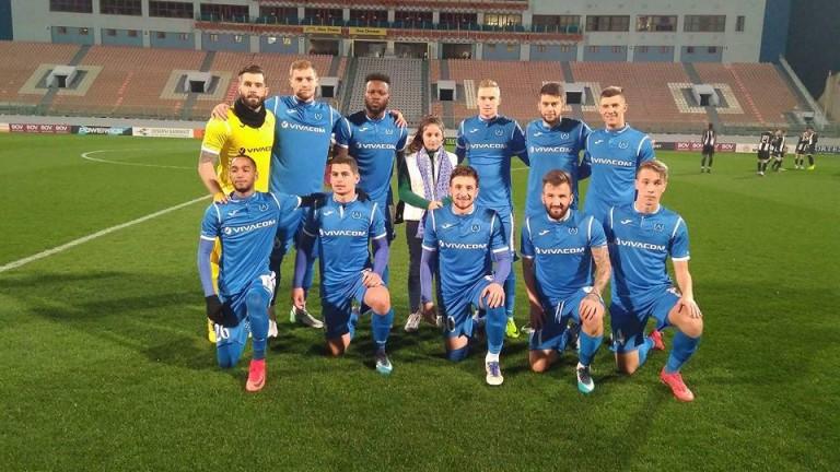 Левски загуби първата си контрола от зимната подготовка в Малта.