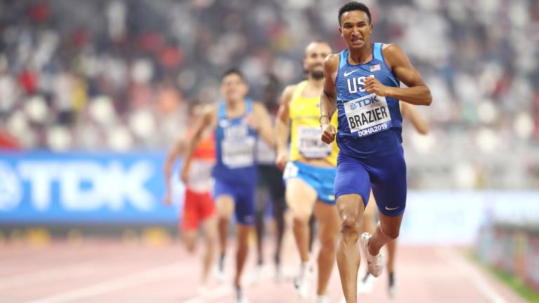 Американският бегач на средни разстояния Донован Брейзиър наложи страхотно темпо
