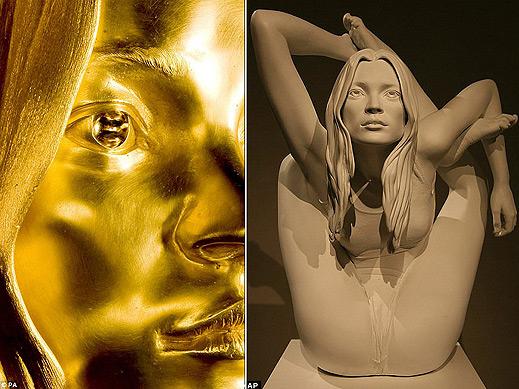 Творец направи скулптура на Кейт Мос от чисто злато