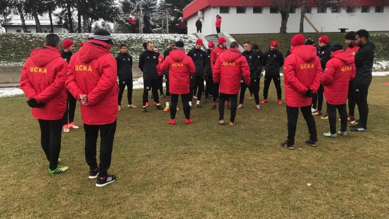 ЦСКА се готви на пълни обороти за мача с Верея