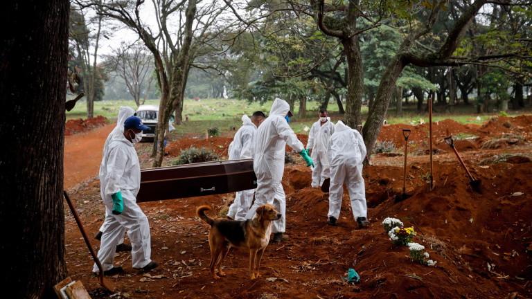 Бразилия регистрира за пръв път от началото на епидемията от