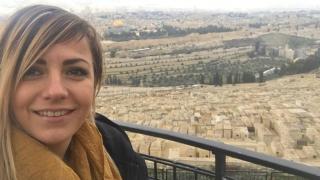 Поли Генова се моли в Йерусалим