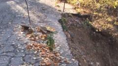 Свлачище по пътя Мизия – Оряхово, сняг на Петрохан