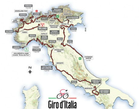 Пълна програма на колоездачната обиколка на Италия 2015 - Topsport.bg