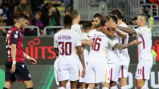 """Рома измъкна трите точки от Каляри и излезе на третото място в Серия """"А"""""""