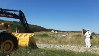 Откриха опасни отпадъци в землището в Червен бряг