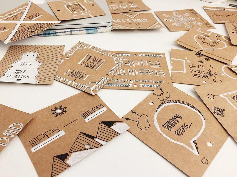 Ръчно изрисувани картички от Мадлен Начева