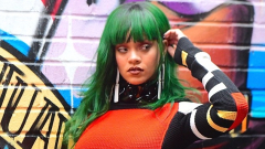 Риана боядиса косата си зелена (СНИМКА)