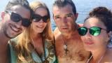 Дарина Павлова се гушка с Бандерас на яхта