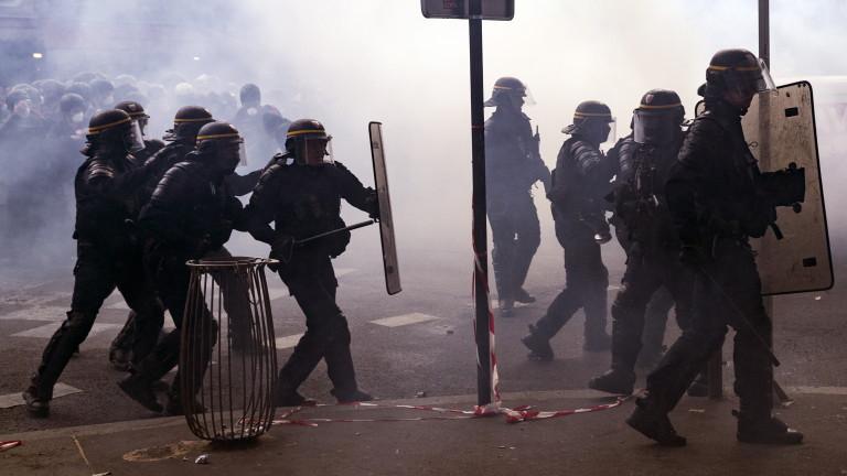 До сблъсъци се стигна в Париж по време на демонстрации