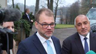 Борисов обсъжда руски ядрени реактори с финландския премиер