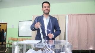 Борис Бонев гласува за промяна в София