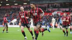 """Бивш играч на Юнайтед донесе победата на Борнемут над """"червените дяволи"""""""