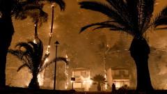 Голям пожар бушува западно от Атина