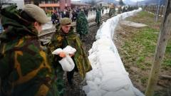 За повишен риск от наводнения в следващите 36 часа предупреди Сърбия