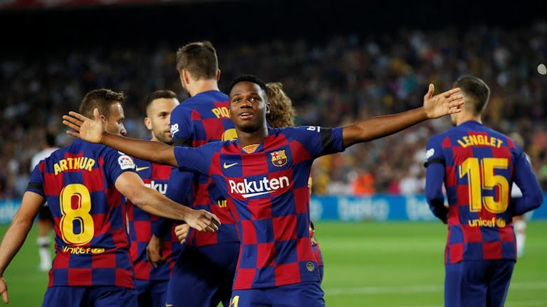 Феновете на Барселона имат нов голям любимец. Това е Ансу