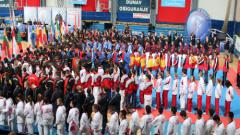 Куп знаменитости и официални лица на карате демонстрация в Кранево