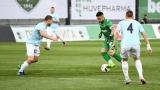 Лудогоре - Дунав 0:1 (Развой на срещата по минути)