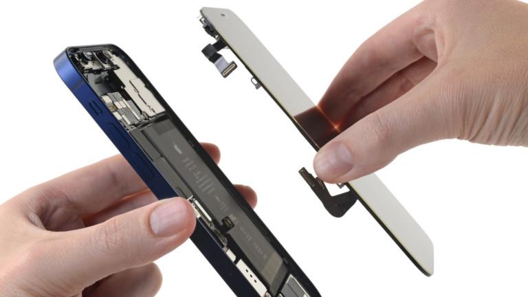 Колко лесни за поправяне са iPhone 12 и iPhone 12 Pro