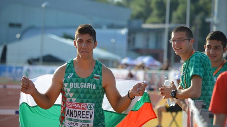 Валентин Андреев спечели златото в хвърлянето на чук от Европейския