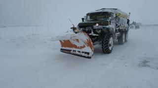Силен снеговалеж във Видинско