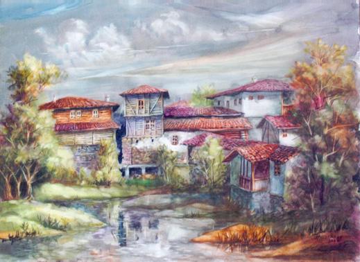 Никола Ангелаков представя пейзажи и натюрморти