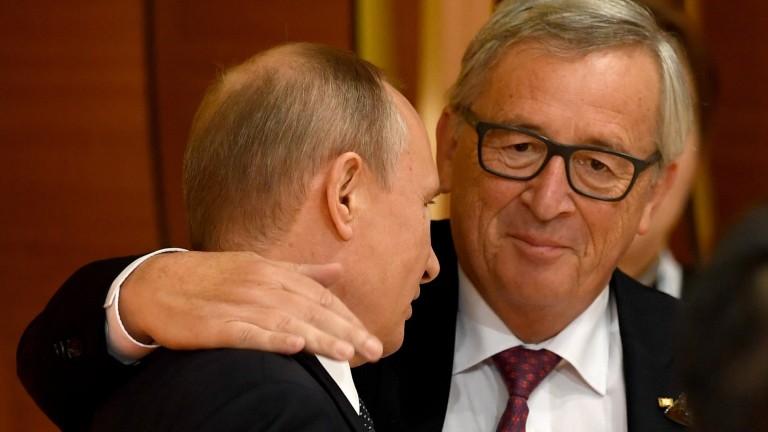 Председателят на Европейската комисия Жан-Клод Юнкер призова руския лидер Владимир