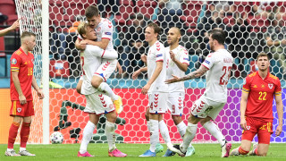 Дания избухна четири пъти срещу Уелс