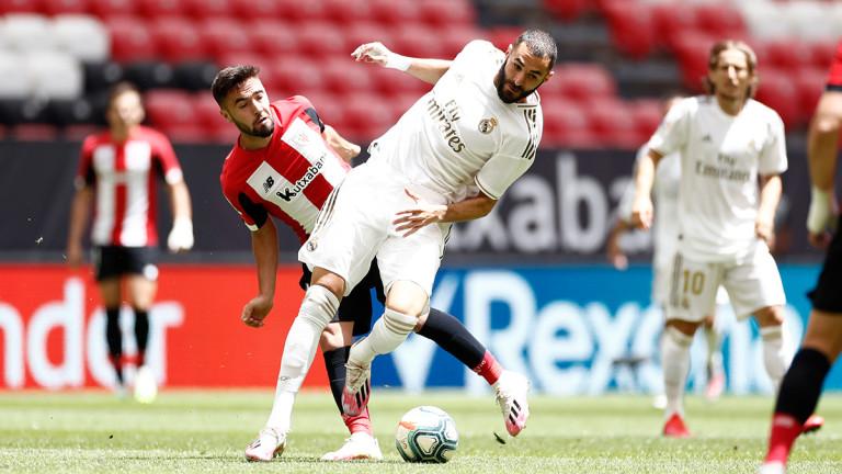 Реал (Мадрид) спечели гостуването си на Атлетик (Билбао) в мач