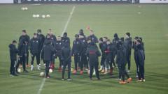 ЦСКА проведе официалната си тренировка на националния стадион