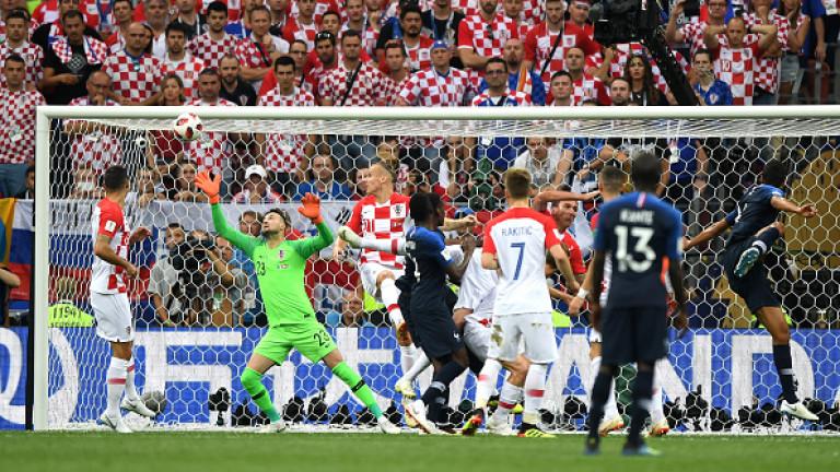 Франция 1 : 0 Хърватия 18′ АВТОГОЛ!!! ФРАНЦИЯ ПОВЕЖДА!! МАНДЖУКИЧ