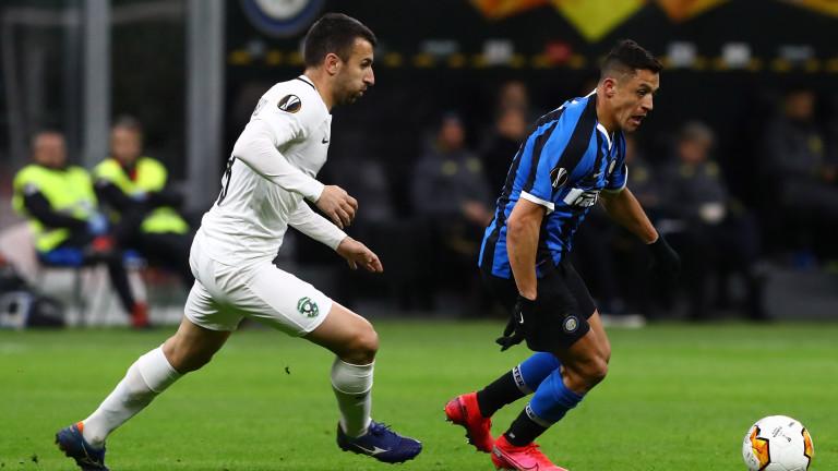 Лудогорецзагуби гостуването си на италианския гранд Интер. Мачът бе втори