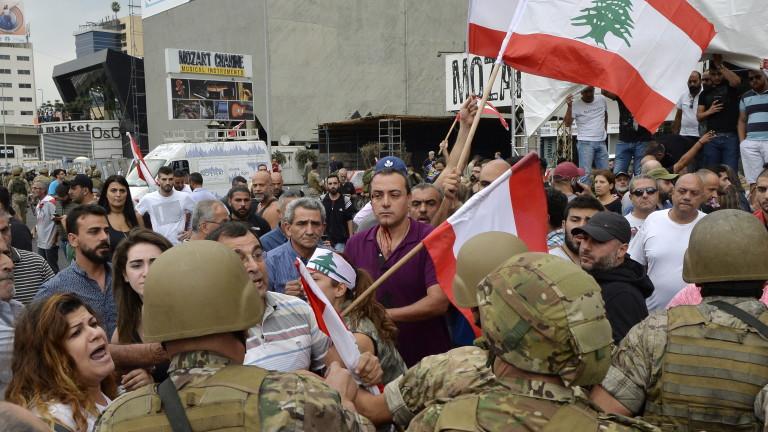 Протестите срещу корупцията в Ливан, известни като
