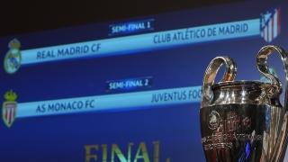 Жребият отреди: Реал - Атлетико и Монако - Ювентус на полуфиналите в ШЛ