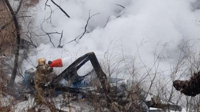Руски хеликоптер Ми-8 се е разбил в град Хабаровск в