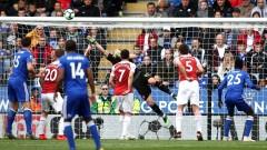 """Арсенал пак се сгромоляса! Лестър нанесе трета поредна загуба на """"топчиите"""" във Висшата лига!"""