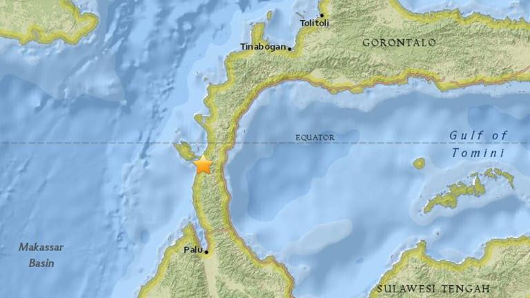 Много силно земетресение с магнитуд 7,5 по скалата на Рихтер