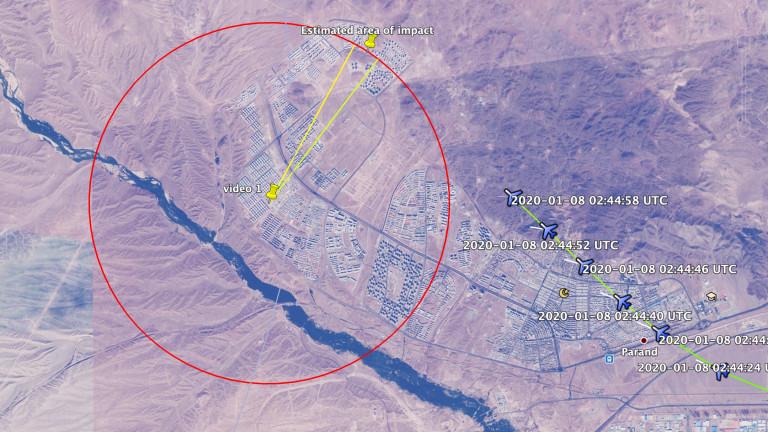 Bellingcat: Две ракети са били изстреляни по украинския самолет в Техеран