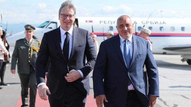 Министър-председателят Бойко Борисов посрещна президента на Сърбия Александър Вучич, който