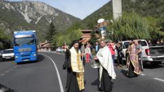 Шествие с чудотворна икона за по-малко жертви на пътя