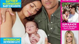 """И Матю Макконъхи показа синчето си в списание """"OK"""""""