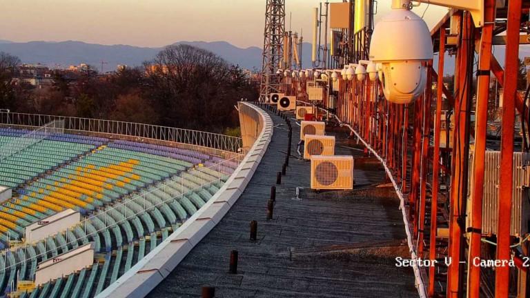 """Националният стадион """"Васил Левски"""" въведе в експлоатация една от най-модерните системи за видеонаблюдение"""