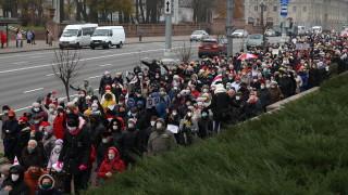 Многохиляден протест отбеляза 100 дни на недоволство срещу Лукашенко