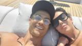 Кристиано Роналдо, Джорджина Родригес и слънчевата им ваканция
