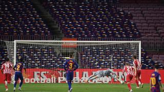 Гол №700 на Лионел Меси не се оказа достатъчен за победа на Барселона срещу Атлетико (Мадрид)