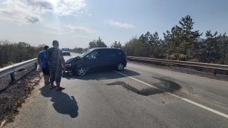 Пожар причини верижна катастрофа на Подбалканския път
